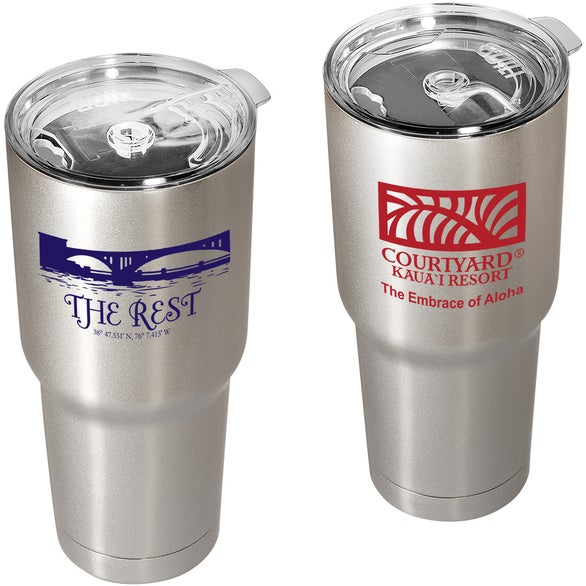 Silver Built Vacuum Insulated Tumbler