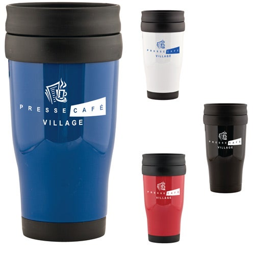 Cafe tumbler 16 oz promotional travel mugs ea for Thermos caffe
