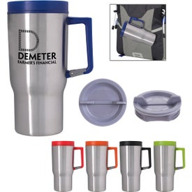 Carabiner Grip Stainless Steel Travel Tumbler (20 Oz.)