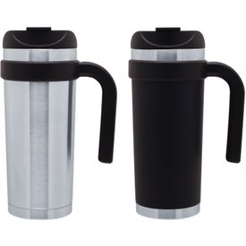 Cayman Stainless Steel Mug (16 Oz. Matte Black, Stainless)