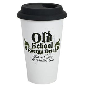 Ceramic Double Wall Tumbler with Your Slogan