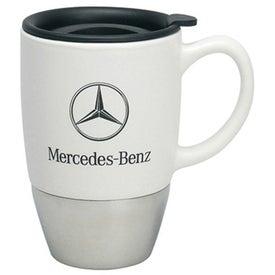 Monogrammed Ceramic/Stainless Mug