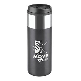 Chrome Top Slim Travel Tumbler (16 Oz.)