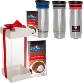 Click 'N Sip Gleam Tumbler and Ghirardelli Cocoa Set (13 Oz.)