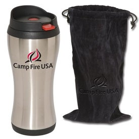 Click 'n Sip Tumbler with Pouch Imprinted with Your Logo
