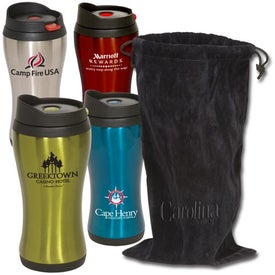 Click 'n Sip Tumbler with Pouch (16 Oz.)