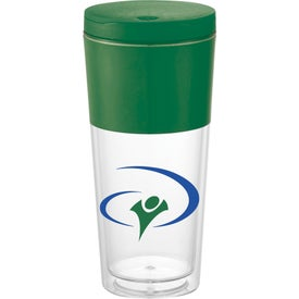 Color Band Tumbler Printed with Your Logo