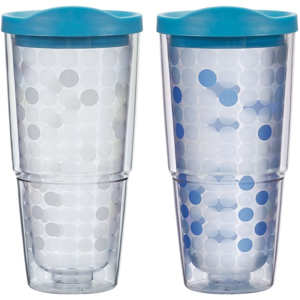 White to Blue Color Changing Biggie Tumbler