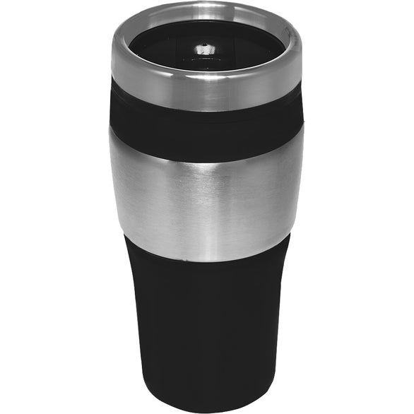 Black / Silver Color Fusion Promotional Tumbler