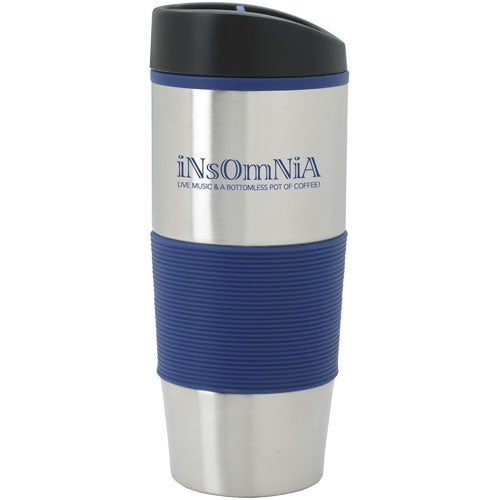 Silver / Blue Color Grip Tumbler