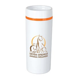 Color Stripe Tumbler with Your Slogan