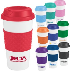 Color Banded Classic Coffee Cups (16 Oz.)