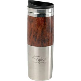 Contrast Wood Tumbler Branded with Your Logo