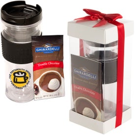 Cool Gear Mason Coffee Tumbler and Ghirardelli Cocoa Set (14 Oz.)