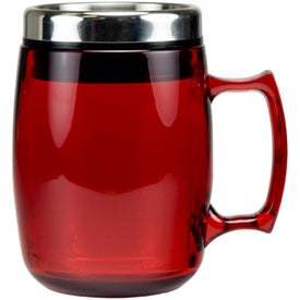 Cosmopolitan Mug with Stainless Steel Slide and Sipp Lid Printed with Your Logo