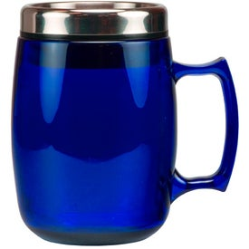 Advertising Cosmopolitan Mug with Stainless Steel Slide and Sipp Lid