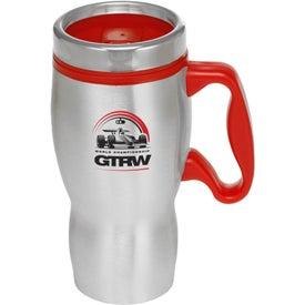 Curvy Handle Stainless Steel Travel Mug (16 Oz.)
