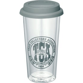 Mega Double-Wall Glass Tumbler with Your Slogan