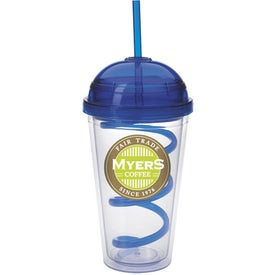 Dome Tumbler with Curly Straw for your School