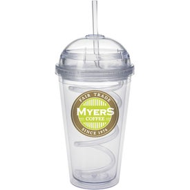 Dome Tumbler with Curly Straw for Your Church