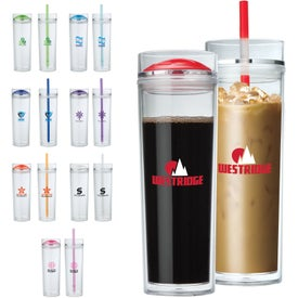 Double Lid Hot and Cold Tumbler (16 Oz.)
