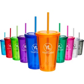 Double Wall Acrylic Straw Lid Tumblers (16 Oz.)