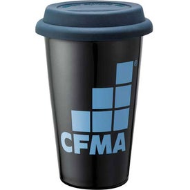 Customizable Double Wall Ceramic Tumbler Printed with Your Logo