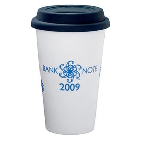 Customizable Double Wall Ceramic Tumbler Branded with Your Logo