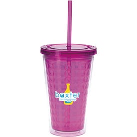 Double Wall Diamond Pattern Tumbler for Advertising