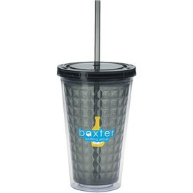 Company Double Wall Diamond Pattern Tumbler
