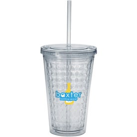 Double Wall Diamond Pattern Tumbler (18 Oz.)
