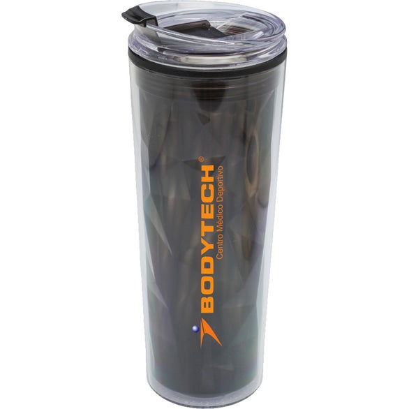 Black Double Wall Travel Mug with Matching Lid