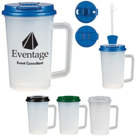 Double Wall Tumbler with Handle (22 Oz.)