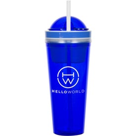 Double Wall Tumbler With Snackster (22 Oz.)