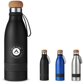 Double Wall Vacuum Bottles with Cork Lid (19 Oz.)