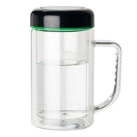 Personalized Double Wall Glass Mug