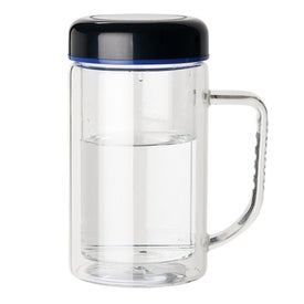 Double Wall Glass Mug for Advertising