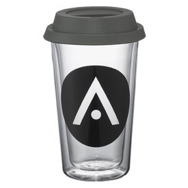 Advertising Double Wall Glass Tumbler