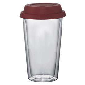 Branded Double Wall Glass Tumbler