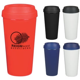 Customizable Double Wall Plastic Tumbler (16 Oz.)