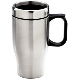 Branded Double Wall Stainless Steel Travel Mug