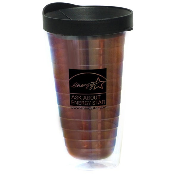 Double Wall Acrylic Tumbler with Snap on Lid