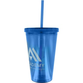 Double Wall Acrylic Tumbler With Straw with Your Logo