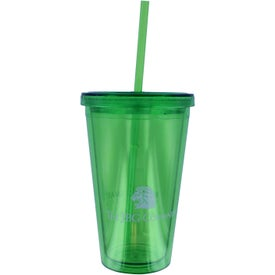 Personalized Double Wall Acrylic Tumbler With Straw
