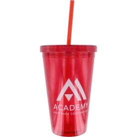 Double Wall Acrylic Tumbler With Straw for Marketing