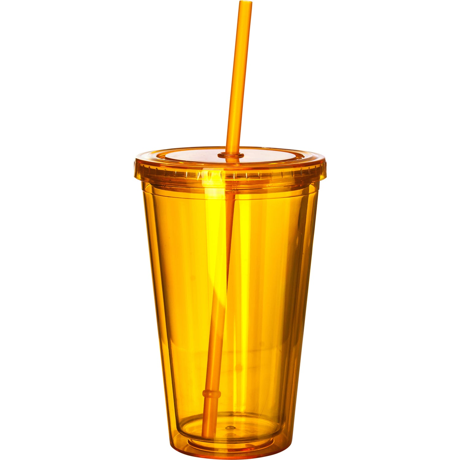Promotional 16 Oz. Double Wall Acrylic Tumbler With Straws with ...