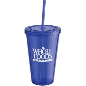 Double Wall Drink Tumbler with Lid and Straw for Your Church