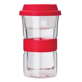 Imprinted Double Wall Glass Tumbler