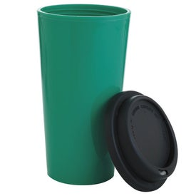 Imprinted Double Wall Polypropylene Tumbler with Black Lid
