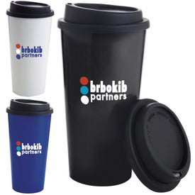 Company Double Wall Polypropylene Tumbler with Black Lid